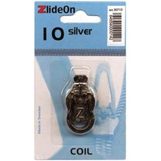 ZlideOn Zipper Pull Replacements Coil 10-Silver