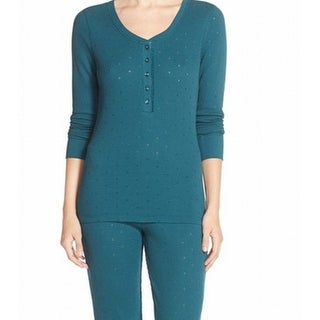 Jane & Bleeker NEW Green Women's Size Medium M Thermal Sleepshirt