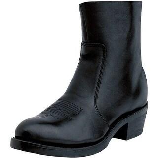 "Durango Western Boots Mens 7"" Side Zipper Cowboy Heel Black"