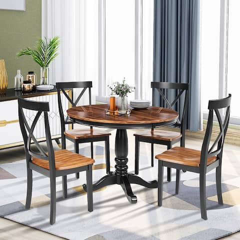 ORIS FUR. 5 Pieces Dining Table and Chairs Set for 4 Persons