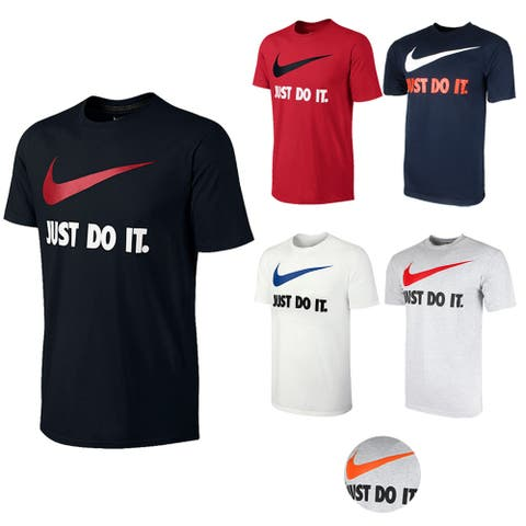 Nike Men's Active Wear Just Do It Swoosh Graphic Athletic Workout Gym T-Shirt