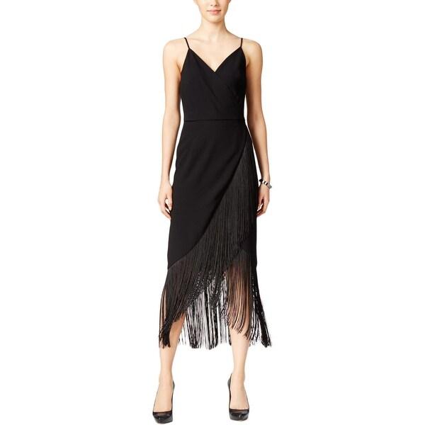 Rachel Roy Discount Gowns: Shop Rachel Rachel Roy Womens Cocktail Dress Fringe Sheath
