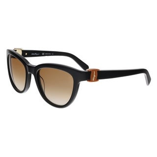 Salvatore Ferragamo SF817S 001 Black Wayfarer Sunglasses - 54-20-135