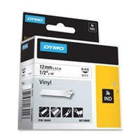 Dymo Corporation  Label- Vinyl- Industrial- .50in.- 18ft.- White