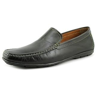 Alfani Java Men Moc Toe Leather Black Loafer
