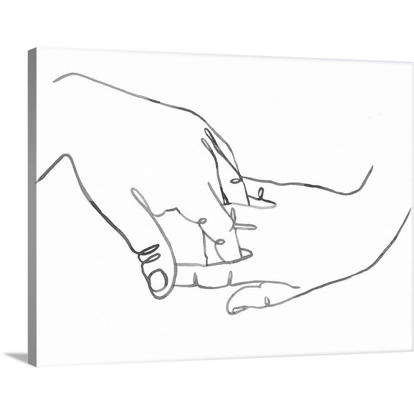 """Gestures in Hand II"" Canvas Wall Art"