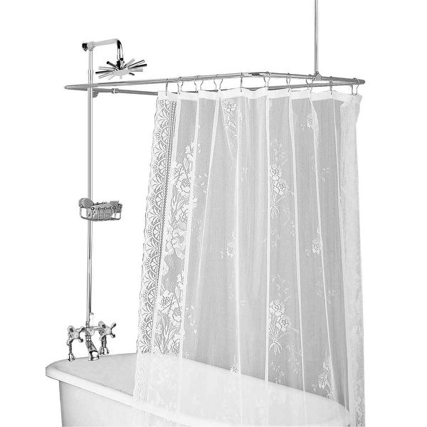 Shop Clawfoot Tub Deck Mount Shower Set Rectangular Enclosure