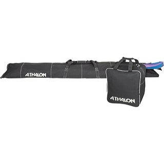 Athalon Two Piece Ski and Boot Bag Set Black - us one size (size none)