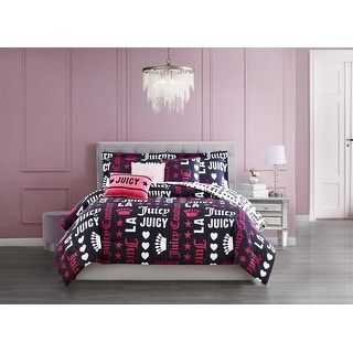 Link to Juicy Couture Words 5-Piece Reversible Set, Twin Similar Items in Comforter Sets