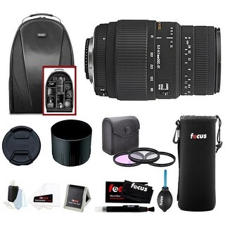Sigma 70-300mm f/4-5.6 SLD DG Macro Lens for Nikon Cameras with Accessory Kit - Black