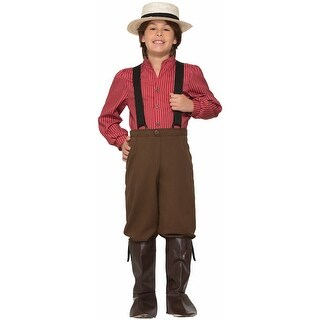 Forum Novelties American Pioneer Boy Child Costume (Medium) - Red/Brown - Medium