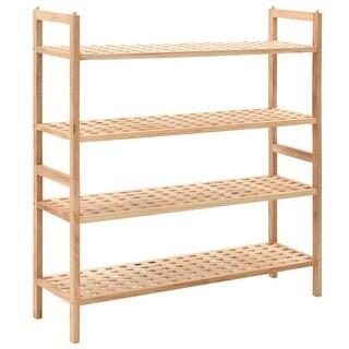 """vidaXL Shoe Rack Solid Walnut Wood 27.2""""x10.2""""x31.9"""""""