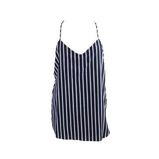 Lauren Ralph Lauren Navy White Striped V-Neck Tank Top 10