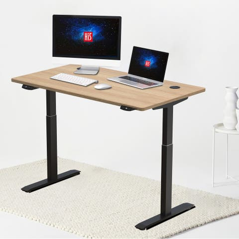 Hi5 Electric Height Adjustable Rectangular Standing Desk
