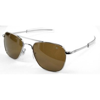 American Optical Original Pilot Bayonet 57 Silv High Contr Sunglasses 30198