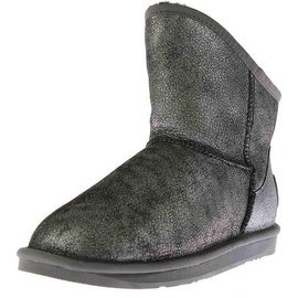 Australia Luxe Womens Cosy X Short Sheepskin Crackled Ankle Boots