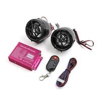 2pcs Black Motorcycle Anti-theft Alarm Stereo Audio MP3 Amplifier Speaker Player