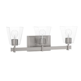 "Park Harbor PHVL3023 Hoxton 3 Light 22-3/8"" Wide Bathroom Vanity Light with Clea (2 options available)"