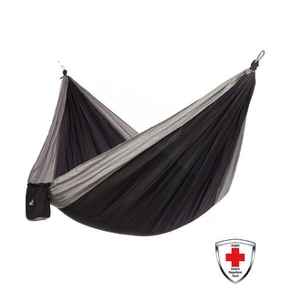 Just Relax Double Portable Lightweight Camping Hammock With KISH Bug Repellent, 10.6x6.6 Feet