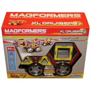 Magformers 32-Piece Magnetic Construction Set: XL Cruisers