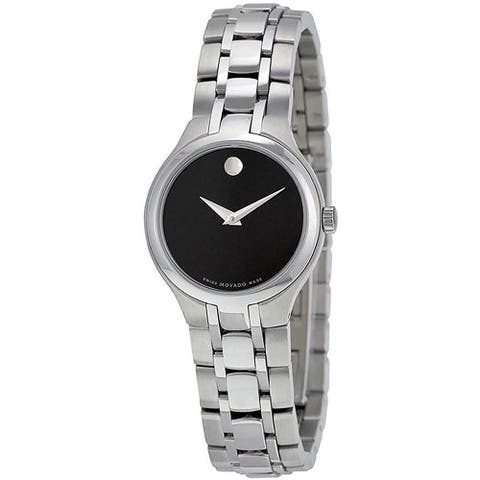 Movado Men's 0606368 'Museum' Stainless Steel Watch - Black