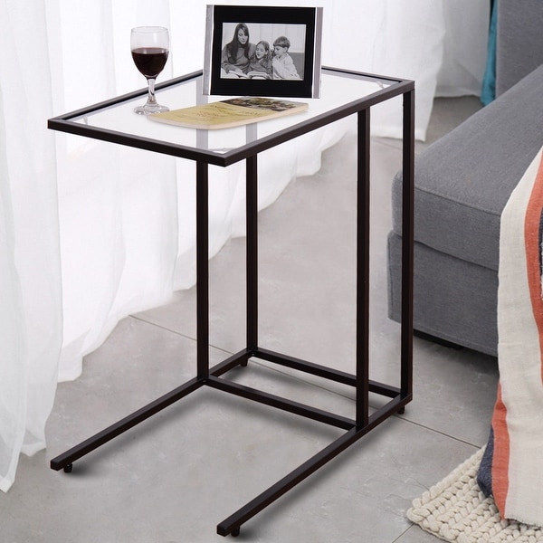 Shop Costway Coffee Tray Side Sofa End Table Ottoman Couch