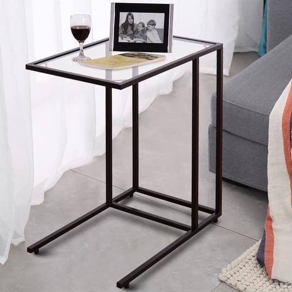 Shop Costway Coffee Tray Side Sofa End Table Ottoman Couch Stand