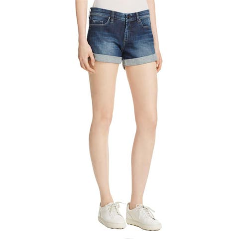 Blank NYC Womens Denim Shorts Denim Cuffed