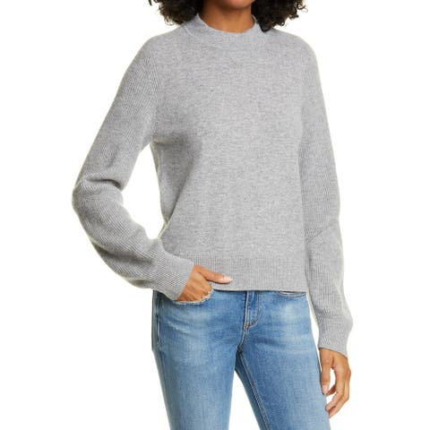 Rag & Bone Womens Sweater Gray Size Large L Pullover Cashmere Ribbed