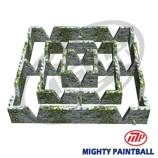 Mighty Paintball - Smart-Field (30'x30'X5'H) Maze design (MP-MA-1026)