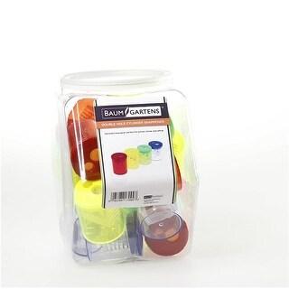 Baumgartens Cylinder Pencil Sharpener Double Hole ASSORTED Colors ()