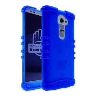 Rocker Series Skin Protector Case for LG G2 (Blue)
