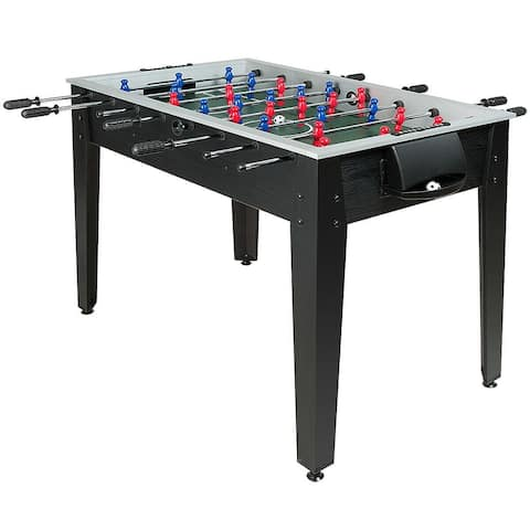 "48"" Competition Sized Home Recreation Wooden Foosball Table-Black - Onesize"