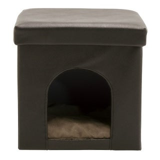 Offex Collapsible Pet Bed and Ottoman - Brown