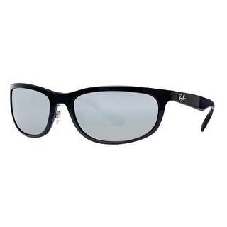 Ray Ban RB4265 601/5J Black Polarized Silver Chromance Rectangle Wrap Sunglasses - Shiny Black - 62mm-19mm-135mm