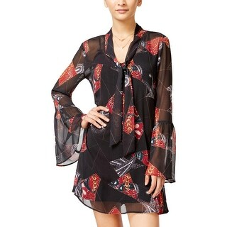 In Awe of You by AWESOMENESS TV Womens Juniors Casual Dress Printed Shift