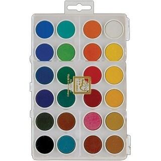 Dry Pan Watercolor Paint Cakes 24/Pkg-Assorted Colors