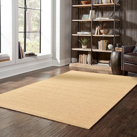 Veranda Solid Tan Indoor/ Outdoor Area Rug