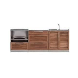 NewAge Products Outdoor Kitchen 92 Inch W x 24 Inch D Piece 3 Set