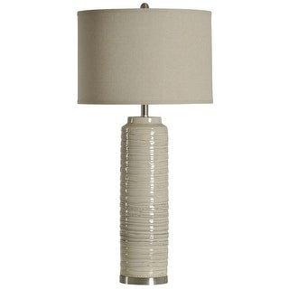 Delacora Sc L35755 Cameron 39 Tall Buffet Table Lamp With Hardback Fabric Shade Off White Overstock 25645324