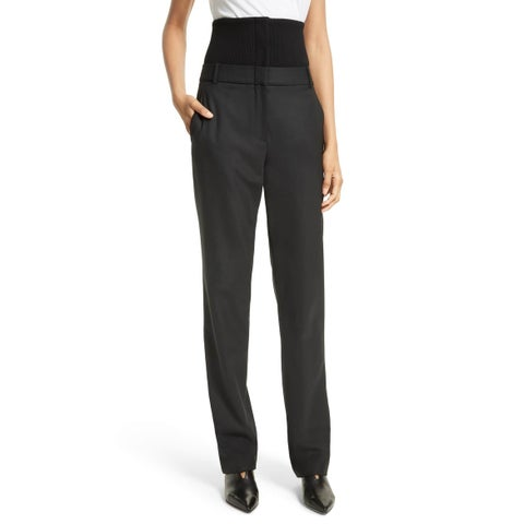 Tibi Women's 0X32 High-Waisted Dress Pants Stretch