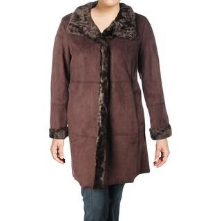 Link to Ellen Tracy Womens Midi Coat Winter Faux Shearling Similar Items in Women's Outerwear