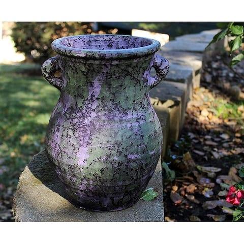 Large Old World Distressed Ceramic Vase or Planter
