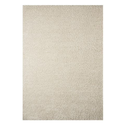 Caci Snow Solid Classic Rug - 5' x 7'