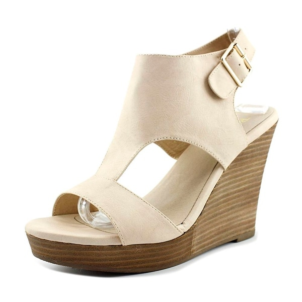 Restricted Main Women Open Toe Synthetic Wedge Sandal