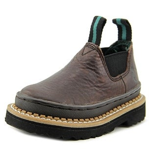 Georgia Boot GR74 Toddler Round Toe Leather Brown Work Boot