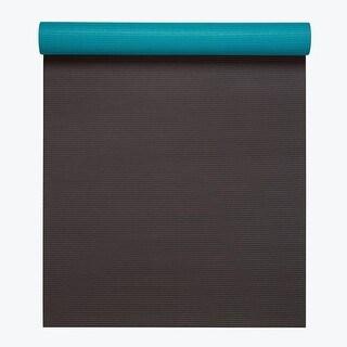 GAIAM Premium 2-Color Yoga Mats (5MM) Earth & Sky - brown
