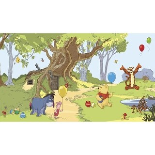 "RoomMates JL1220M 72"" x 126"" - Pooh and Friends - Prepasted Non-Woven Mural - N/A"