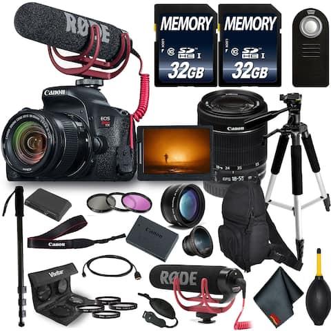 Canon EOS Rebel T7i DSLR Camera with 18-55mm Lens Bundle