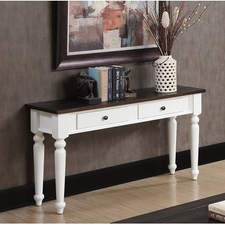 Link to The Gray Barn White and Brown Rustic Plank Top Sofa Table Similar Items in Living Room Furniture